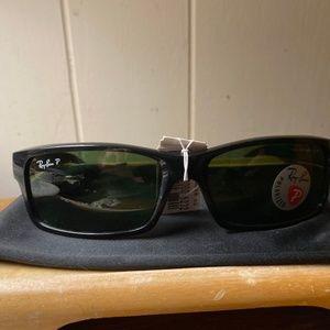 Ray-ban Black Polarized Squared Sunglasses NWT